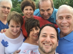 Selfie with Philip and Suzanne Karlick, Simie and Larry Faskowitz, Ron and Maxine Rosen, and Brad!