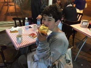 Mazel Tov to the Bar Mitzvah boy; have a waffle!