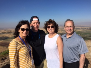 The chairs of our trip: Susan Barry, Jon Barry, Cathy Gottlieb and Alan Gottlieb.