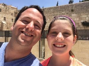 Brad and Sarah-Anne Seligman Kotel Selfie