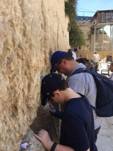 Craig and Preston Seligman at the Kotel